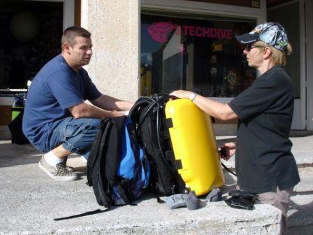Plongées sur le Haven Arenzano Italie : Eveline Verdier et Olivier Bertiaux Oli d'Abyss plongée