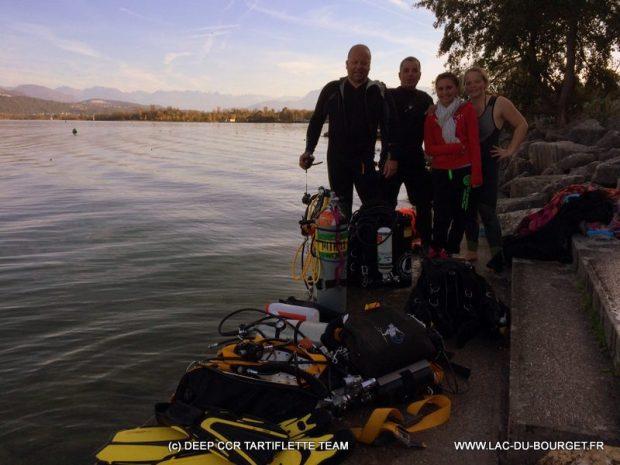 Baptême plongée lac du Bourget