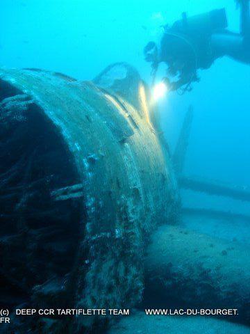 Plongée à Cavalaire sur l'épave du Hellcat 56m Formation Trimix Cavalaire Deep CCR Tartiflette Team
