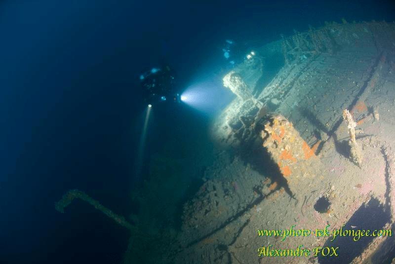 Plongee épave volier Alain Saint Raphael