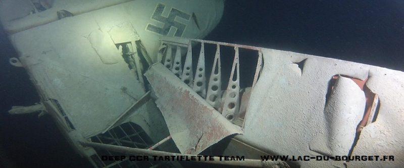 Préservation de l'épave d'Avion Nazi FW58 du lac du Bourget