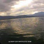 Effet de couleur sur le lac du Bourget