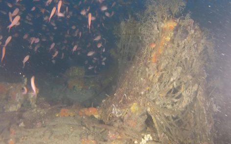 Plongee Recycleur sur l'épave du Miquelon à Marseille