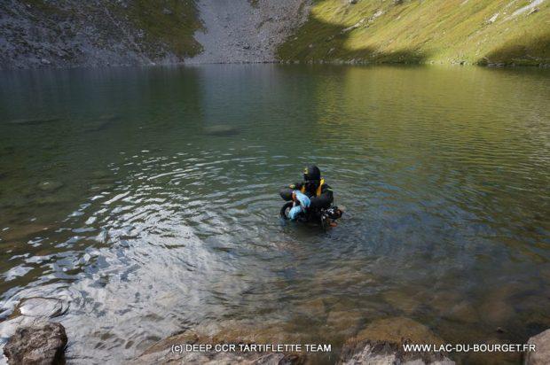 Plongee recycleur lac Merlet