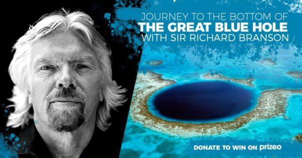 Sir Richard Branson va plonger dans le Blue Hole du Belize