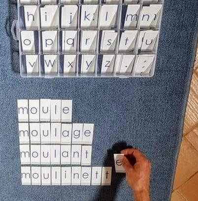 alphabet mobile montessori script
