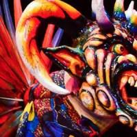 La máscara de diablico sucio