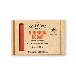 Jabon exfoliante cedro y Bourbon - la caja de bruno