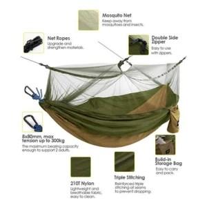 hamaca con mosquitero - La Caja de bruno
