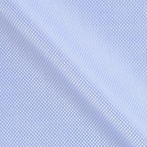 Blauer Oxford Stoff aus Baumwolle Vollzwirn