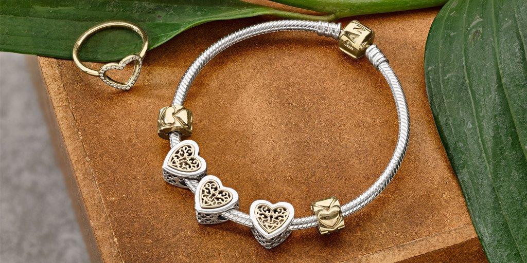 PADNORA Two-Tone Charm Bracelet