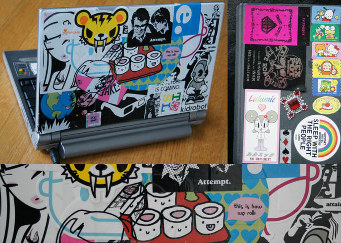 Decorate Laptop With Stickers