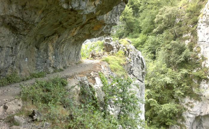 Ruta de senderismo del desfiladero de las Xanas, Asturias