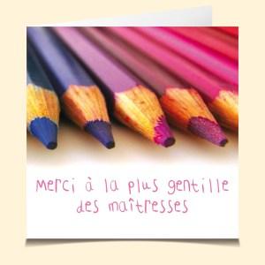 Institutrice Crayons