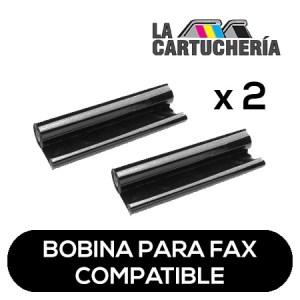 Panasonic Pack 2 bobinas para fax, reemplaza a KXFA54 Compatible