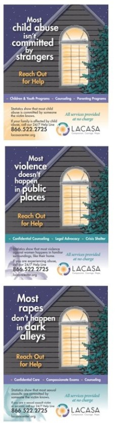 SERIES: New three-part community poster series urges those affected by child abuse, domestic violence or sexual assault to reach out for help.