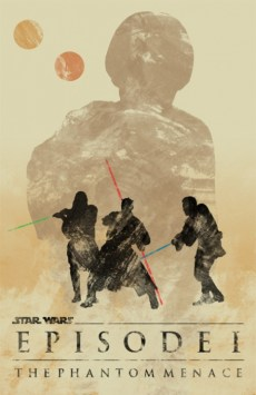 star wars la amenaza fantasmana poster minimalista