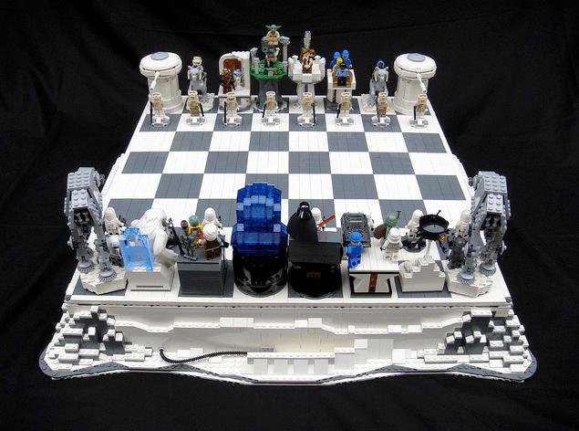 Ajedrez de Lego estilo Star Wars
