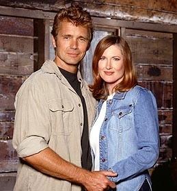 """John Schneider y Annette O'Toole en """"Smallville"""""""