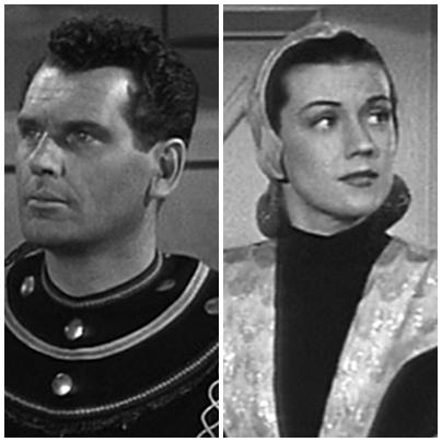 """Robert Rockwell y Aline Towne en """"Adventures of Superman"""" (1952)"""