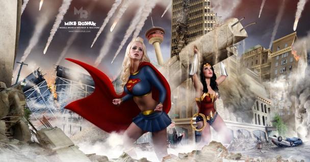 supergirl y wonder woman salvan Calgary