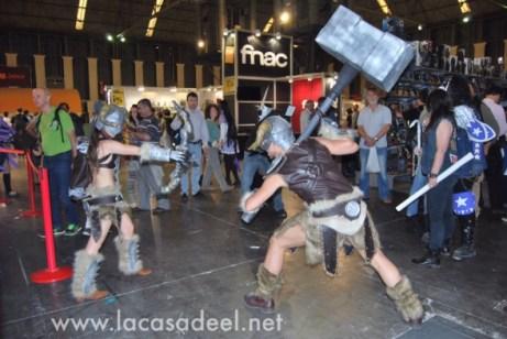Cosplayers Guerreros Salón Cómic Barcelona