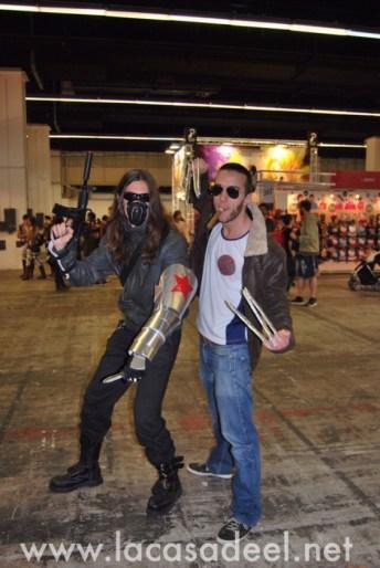 Cosplayers Soldado de Invierno Lobezno Salón Cómic Barcelona