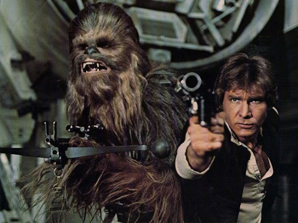 chewbacca han solo star wars