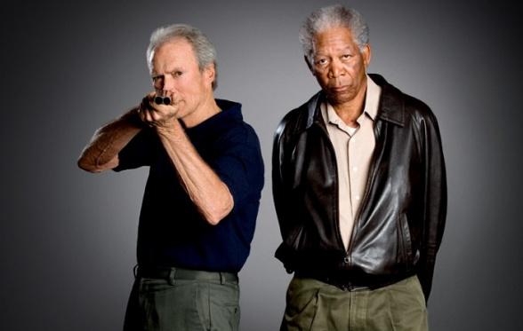 Clint Eastwood and Morgan Freeman Unforgiven
