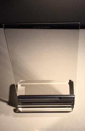 Teléfono transparente de Samsung para Tony Stark