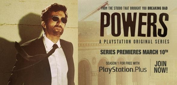 Anuncio de la serie Powers en PlayStation Network