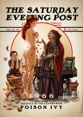 Héroes y villanos de DC Comics como portadas de 'The Saturday Evening Post'