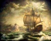 La visión particular de Lee de los viajes en barco por el mundo de Azeroth
