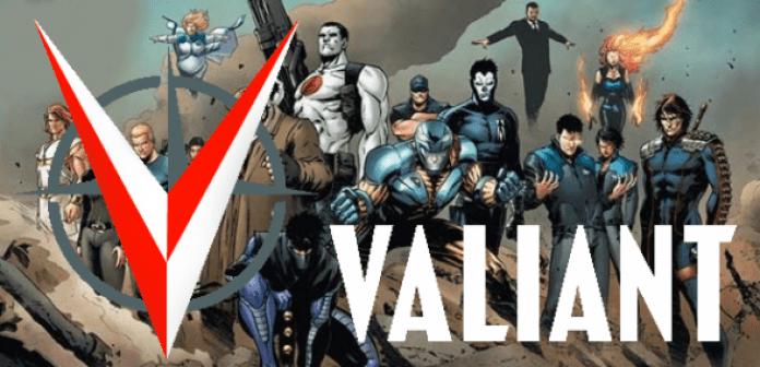 Valiant - logo con personajes