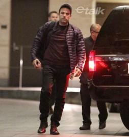 Ben Affleck llegando a Toronto