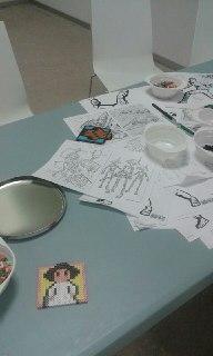 También había dibujos para colorear