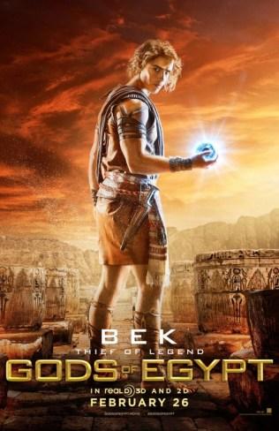 Gods of Egypt Brenton Thwaites como Bek