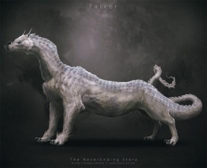 Fújur, el dragón de la suerte (Falkor en inglés)