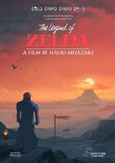 Poster Legend of Zelda Studio Ghibli 3