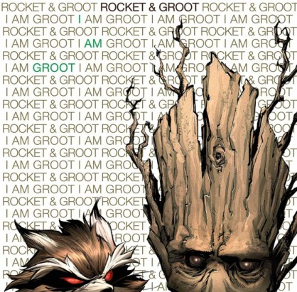 Rocket Raccoon and Groot Portada hip hop