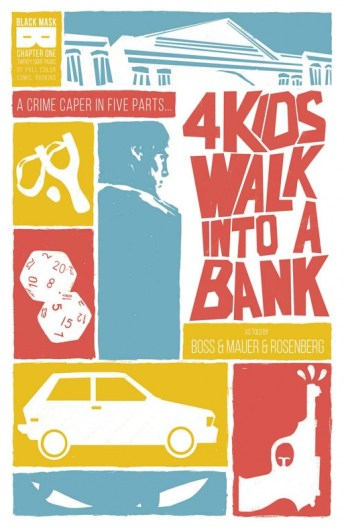 4 Kids Walk Into A Bank Portada de Tyler Boss