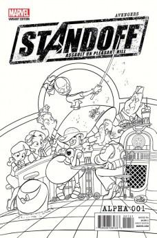 Avengers Standoff Portada alternativa de fiesta a tinta de Jay Fosgitt