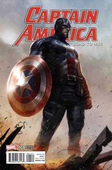 Captain America Road to War Portada alternativa de Francesco Mattina