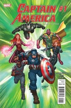 Captain America Road to War Portada principal de Ron Lim y Guru-eFX