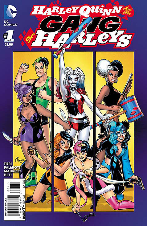 Harley Quinn and Her Gang of Harleys Portada principal de Amanda Conner