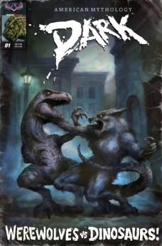 Dark Werewolfs vs Dinosaurs Portada (3)