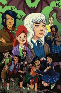 Lumberjanes Gotham Academy Portada alternativa de Leila Del Duca
