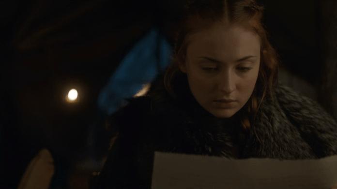 Sansa Stark carta Juego de Tronos