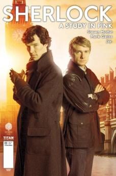 Sherlock A Study in Pink Portada alternativa BBC