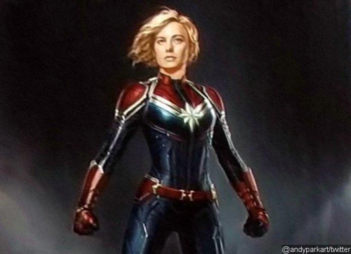 Brie Larson como Captain Marvel - diseño conceptual